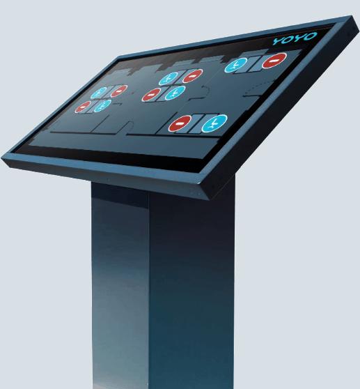 Stele mit Yoyo Touch App
