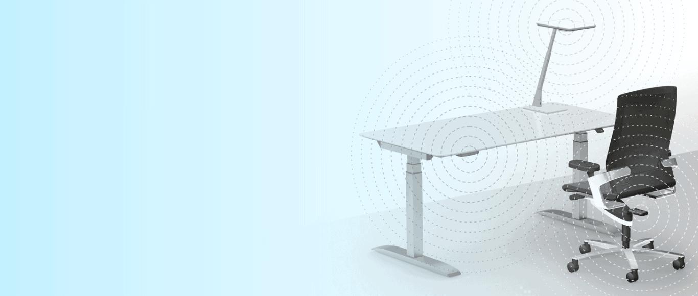 Yoyo Workstation mit ergonomischem Tisch und Stuhl